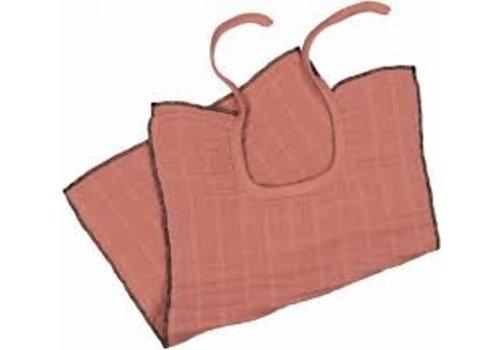 MOUMOUT PARIS Muslin bib - Terracotta