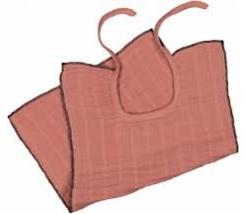 Bavoir de mousseline - Terracotta