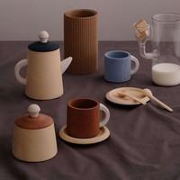 Tea set terra and blue