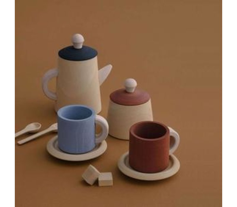 Ensemble de thé terra et bleu