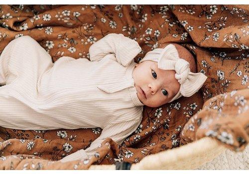 MEBIE BABY Vanilla zipper footie