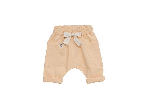LITTLE YOGI Pantalons - Apricot linen