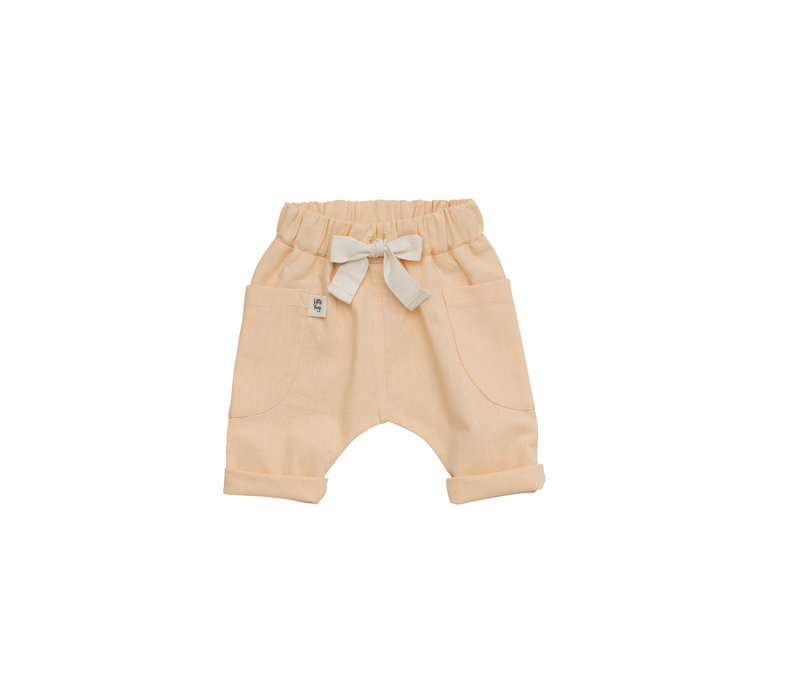 Pantalons - Apricot linen