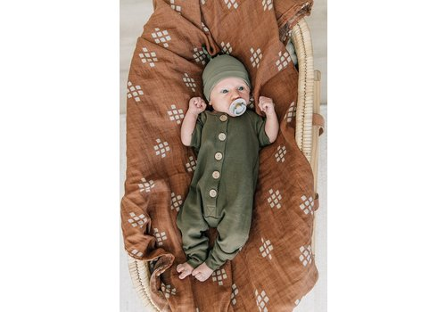 MEBIE BABY Barboteuse à boutons - Olive