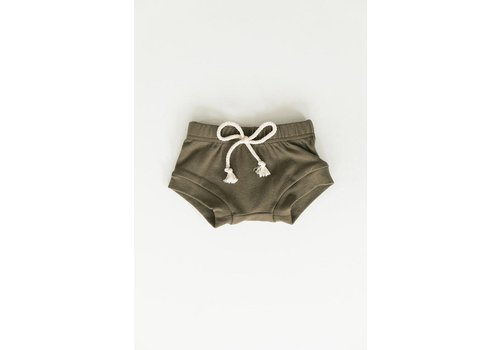 MEBIE BABY Cotton olive shorts