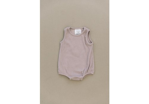 MEBIE BABY Lavender cotton bubble romper