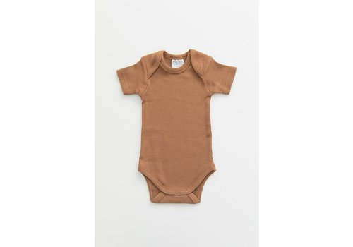 MEBIE BABY Honey organic cotton ribbed bodysuit