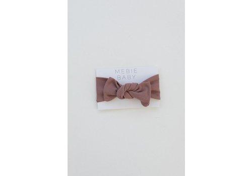 MEBIE BABY Ribbed dusty rose headband