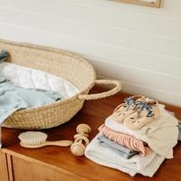Tapis en coton pour panier à langer