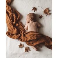 Mousseline coton bio - Bronze