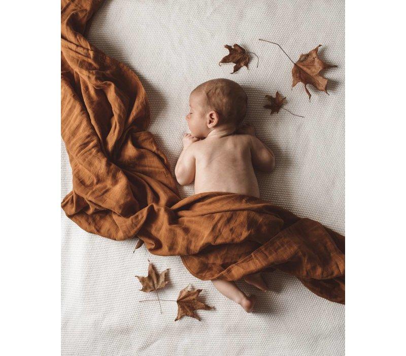Organic muslin blanket - Bronze