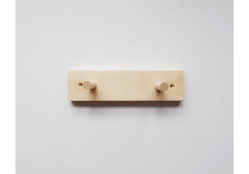 MINIKA Support en bois - 2 crochets