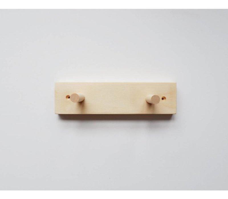 Wooden peg rail - 2 hooks