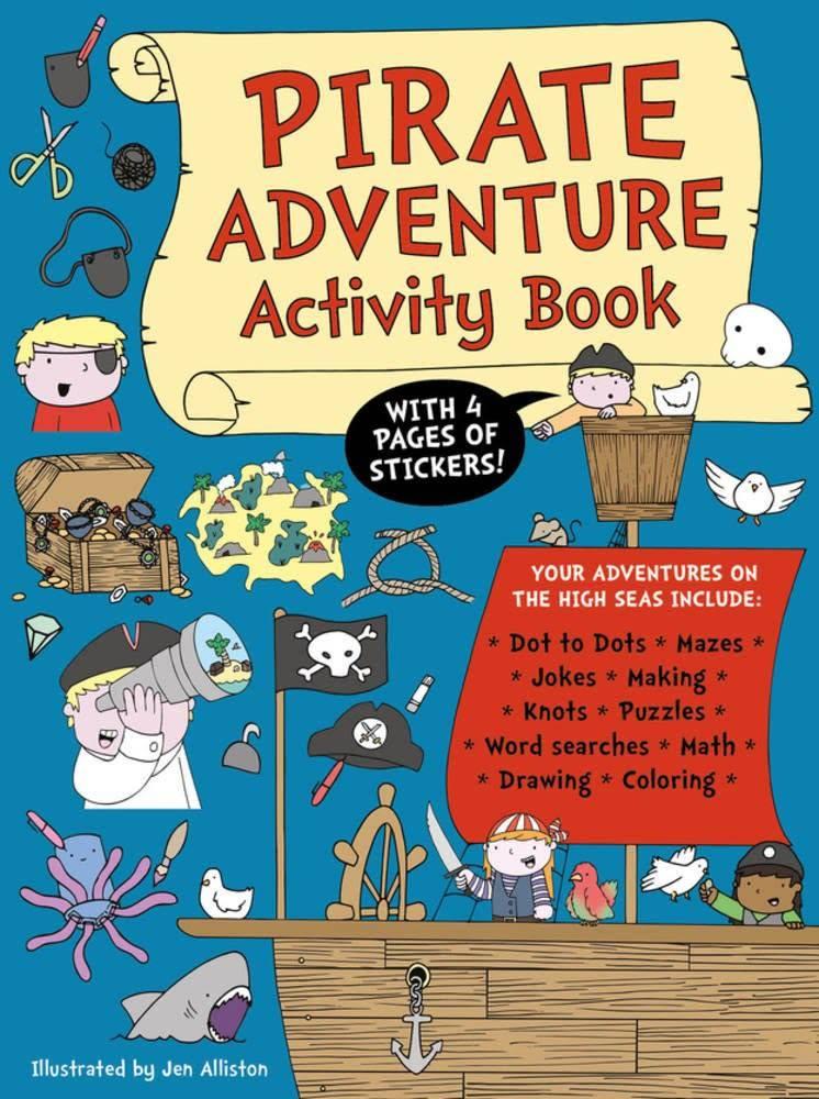 Button Books Pirate Adventure Activity Book