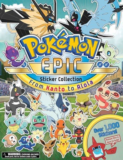Pikachu Press Pokémon Epic Sticker Collection: From Kanto to Alola