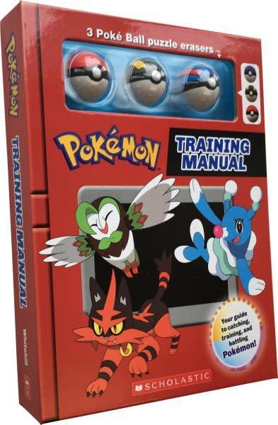 Scholastic Inc. Training Manual (Pokemon Training Box with Poke Ball erasers)