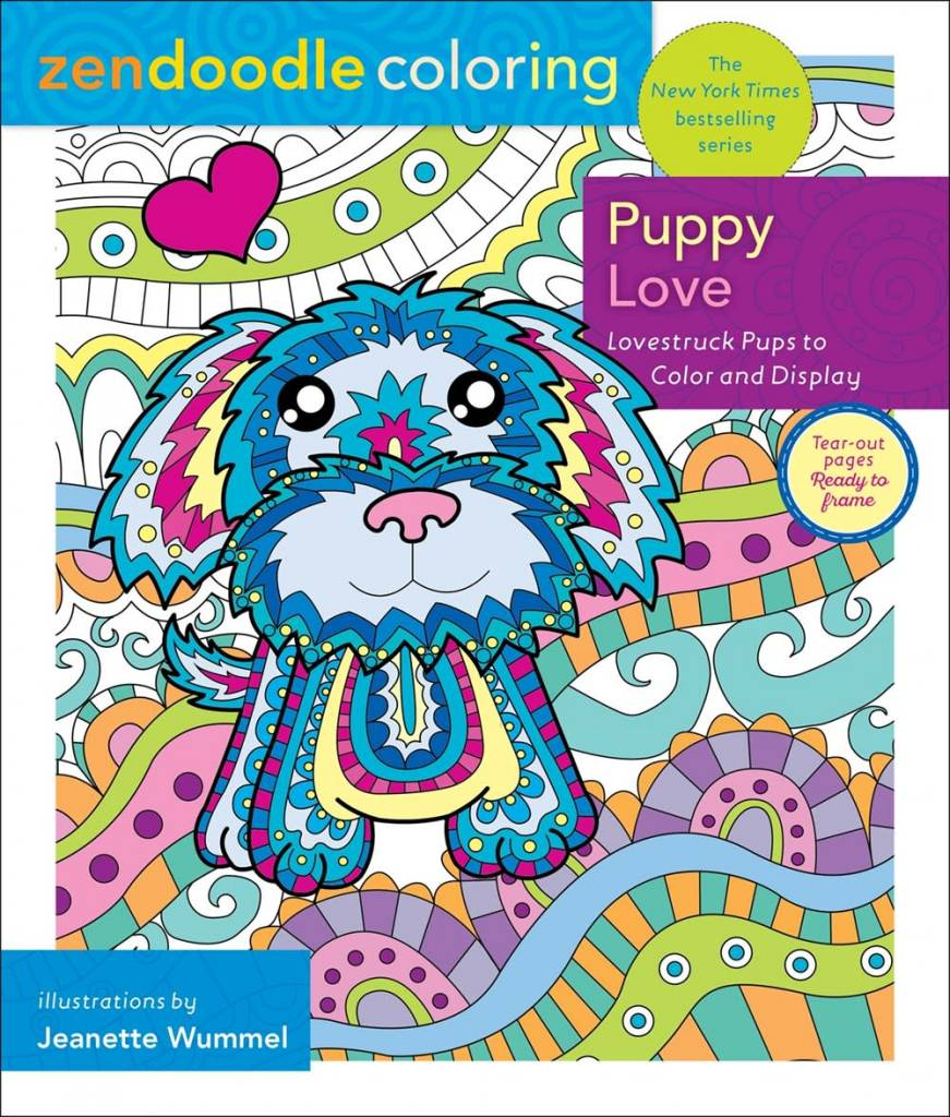 St. Martin's Griffin Zendoodle Coloring: Puppy Love