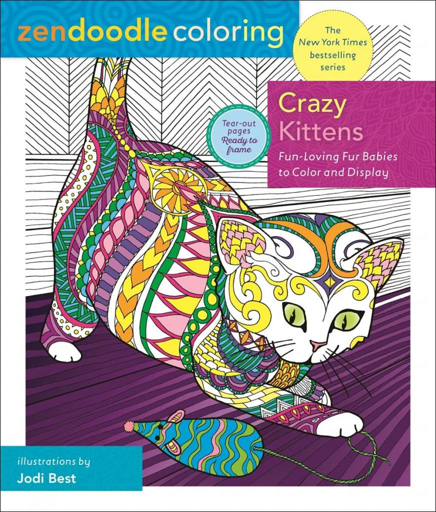 St. Martin's Griffin Zendoodle Coloring: Crazy Kittens
