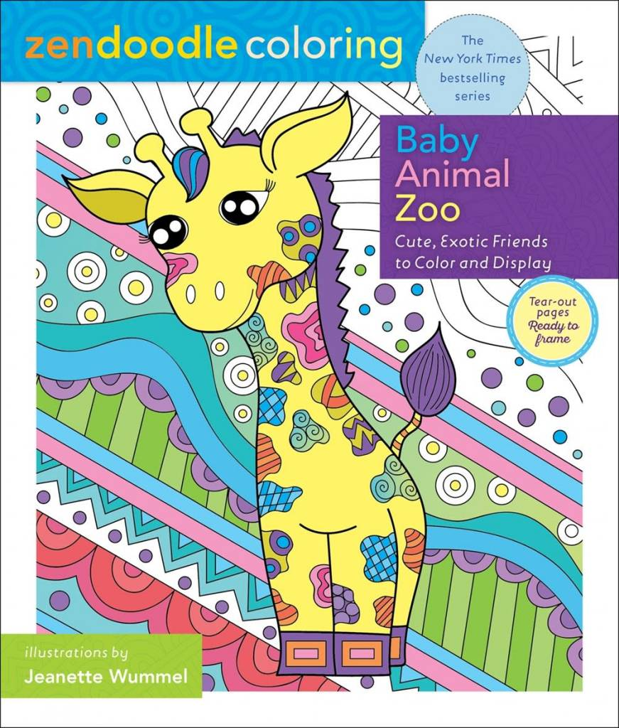 St. Martin's Griffin Zendoodle Coloring: Baby Animal Zoo