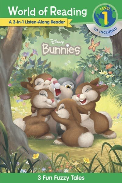 Disney Press World of Reading Disney Bunnies 3-in-1 Listen-Along Reader (Level 1)