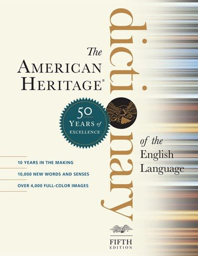 Houghton Mifflin Harcourt American Heritage Dictionary of the English Language 5th Edition