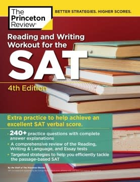 Princeton Review Reading and Writing Workout for the SAT, 4th Edition