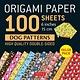 "Tuttle Publishing Origami Paper 100 sheets Dog Patterns 6"" (15 cm)"
