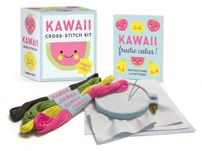 Running Press Miniature Editions Kawaii Cross-Stitch Kit