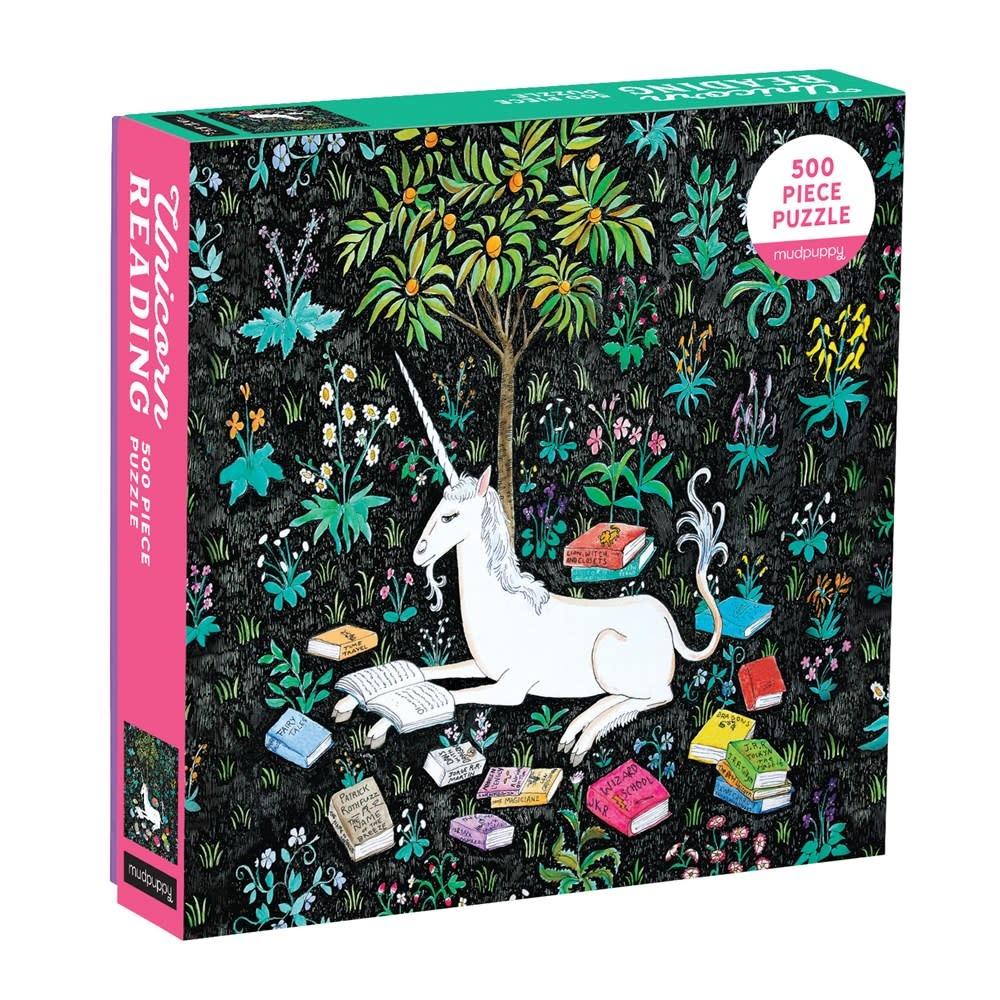 Mudpuppy Unicorn Reading (500 Piece Family Puzzle)