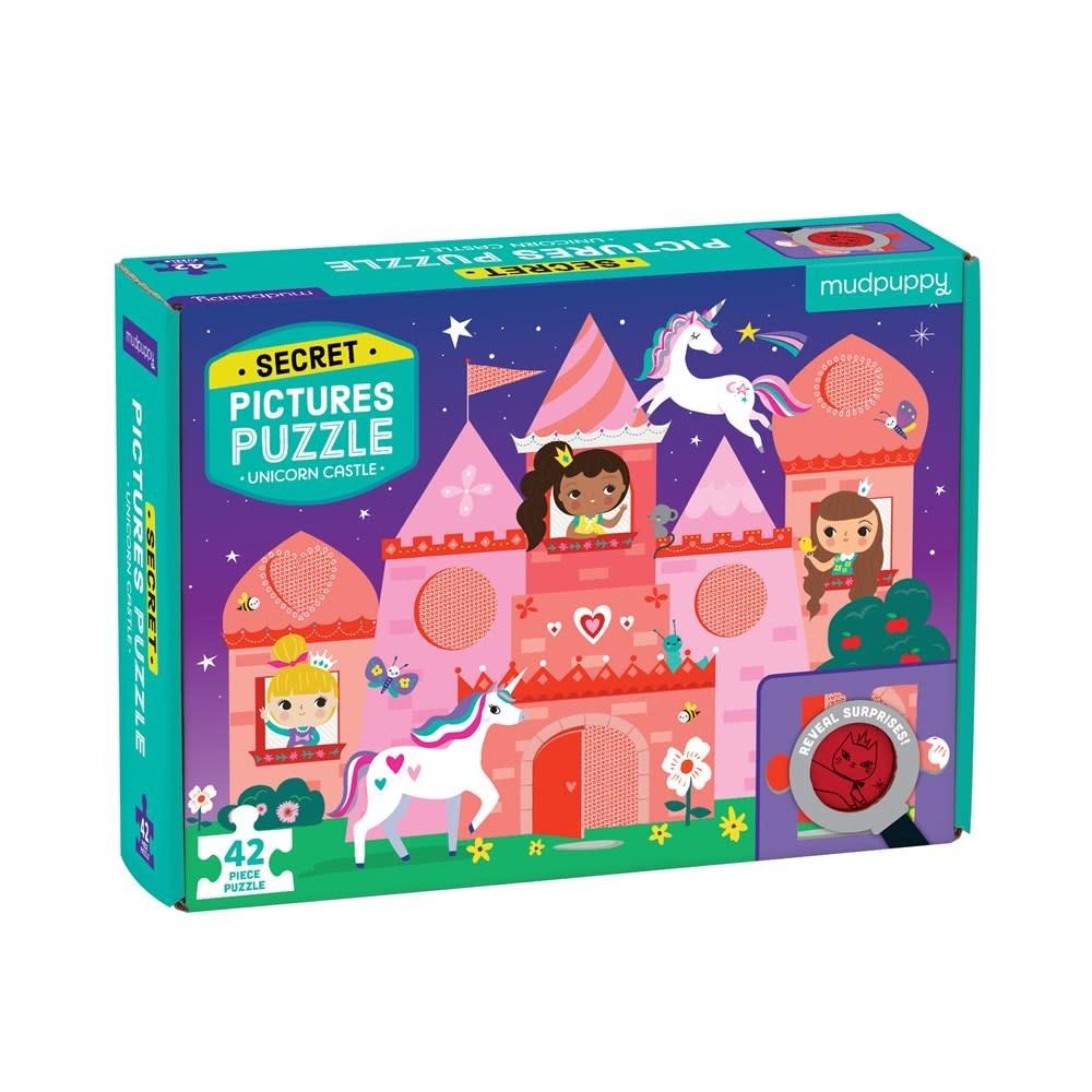 Mudpuppy Secret Pictures Puzzle: Unicorn Castle (42-Pieces)