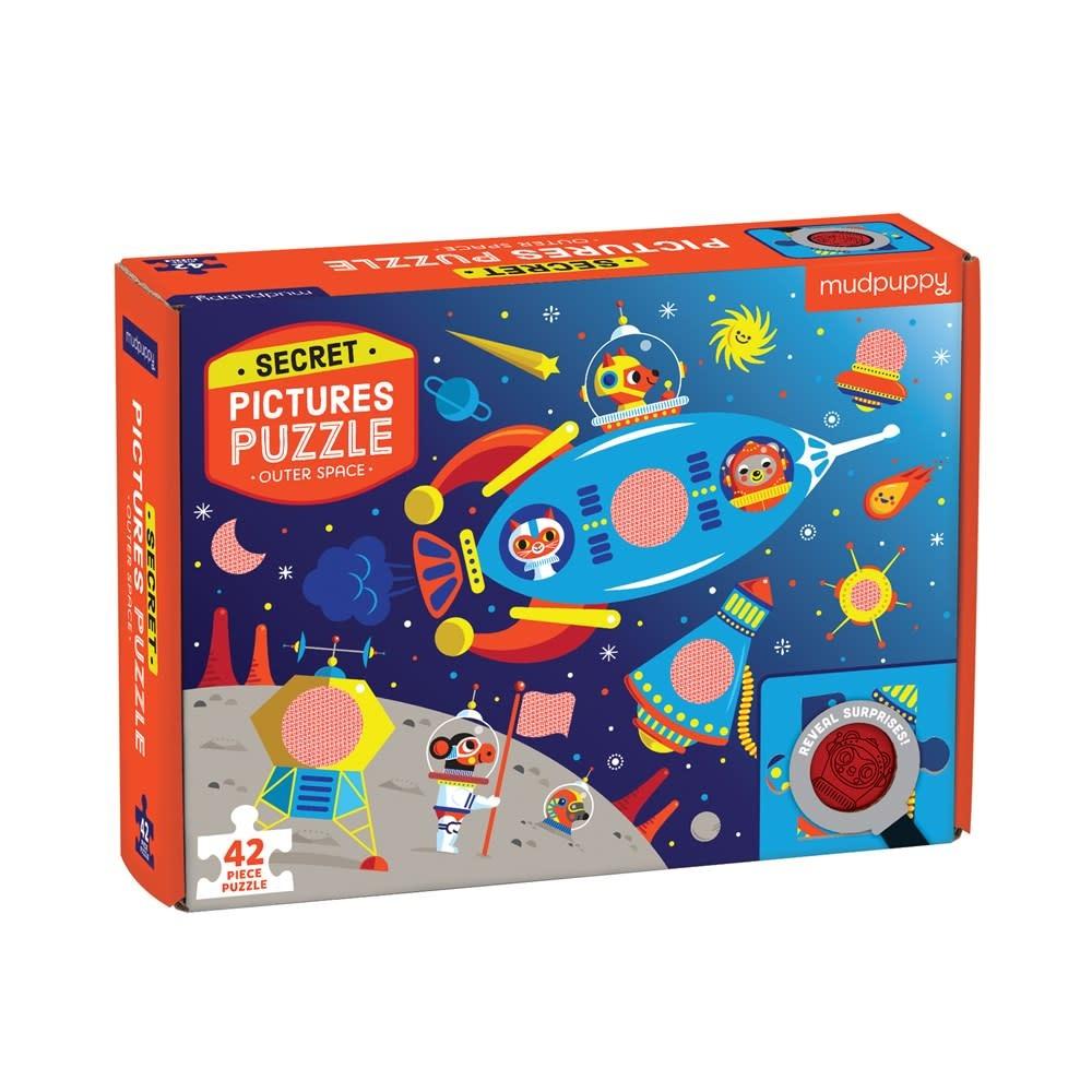 Mudpuppy Secret Picture Puzzle: Outer Space (42-Pieces)