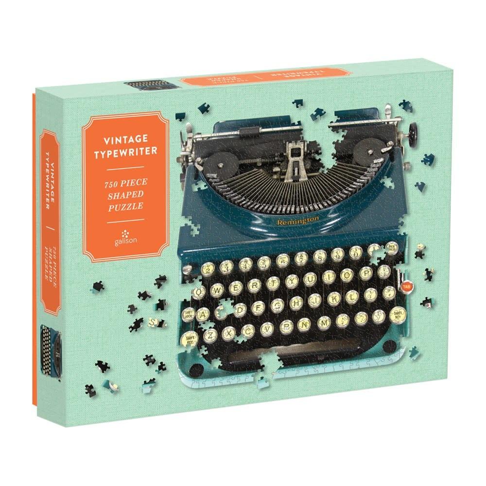 Galison Vintage Typewriter (750 Piece Shaped Puzzle)