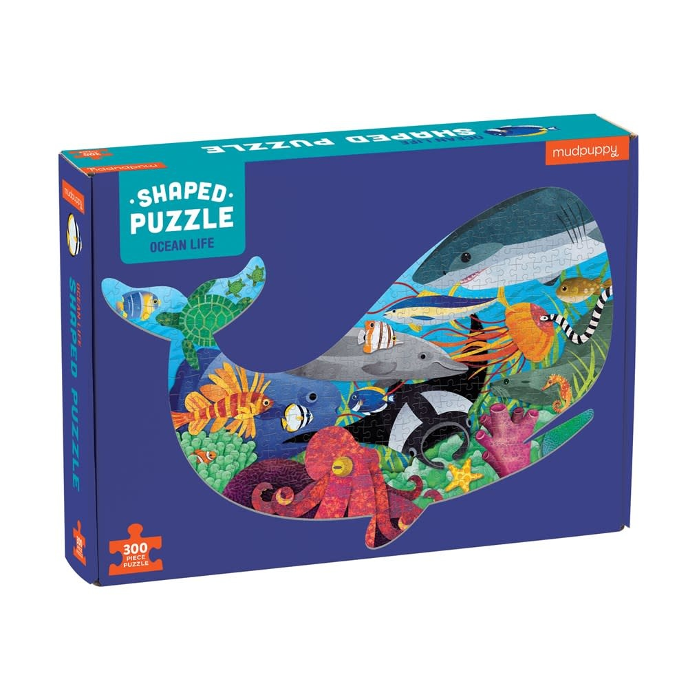 Mudpuppy Ocean Life (300 Piece Shaped Scene Puzzle)