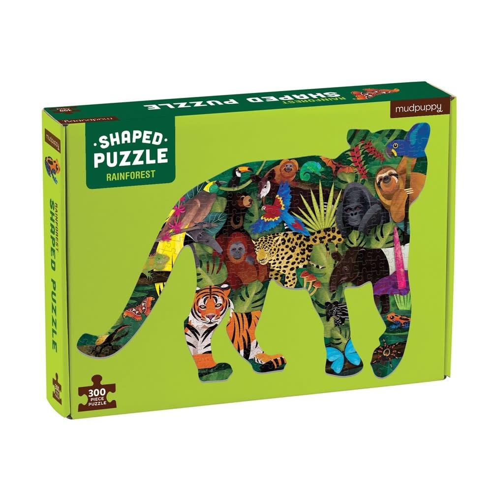 Mudpuppy Rainforest (300 Piece Shaped Scene Puzzle)