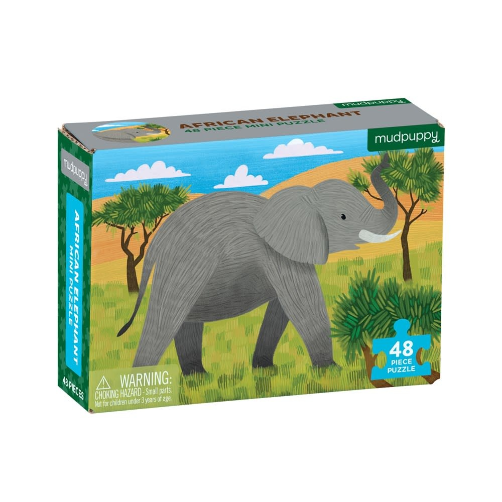 Mudpuppy African Elephant (48-Piece Mini Puzzle)
