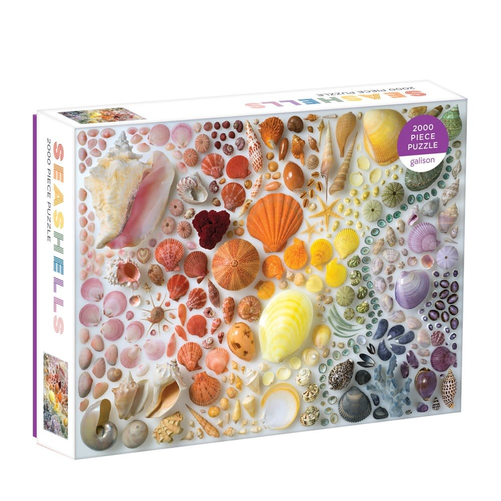 Galison Rainbow Seashells (2000 Piece Puzzle)