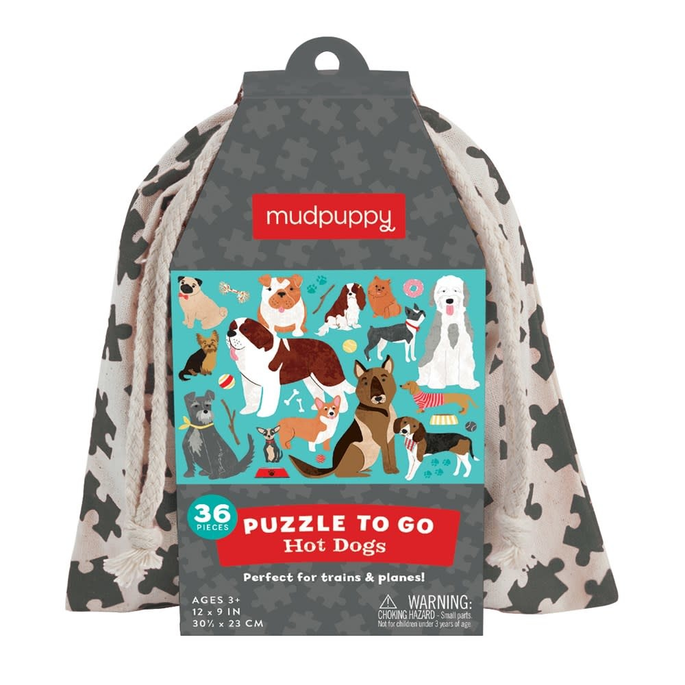 Mudpuppy Puzzle To Go: Hot Dogs (36-Piece Puzzle)