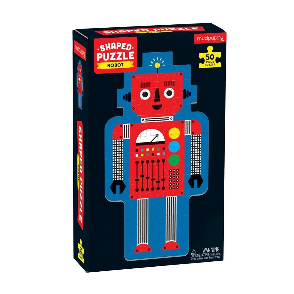 Mudpuppy Robot (50-Piece Shaped Character Puzzle)