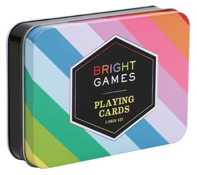 Chronicle Books Bright Games 2-Deck Set of Playing Cards