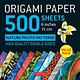 "Tuttle Publishing Origami Paper 500 sheets Nature Photo Patterns 6"" (15 cm)"