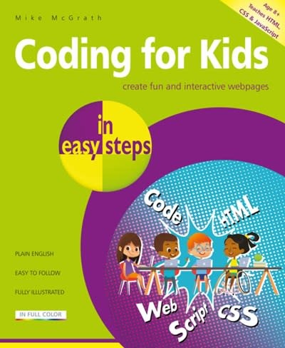 In Easy Steps Limited Coding for Kids in easy steps