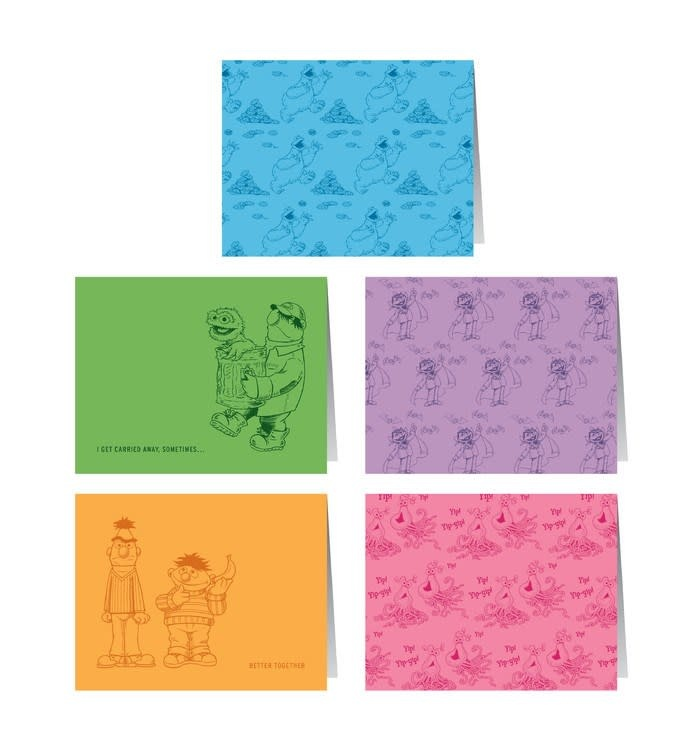 RP Studio Sesame Street Notecards