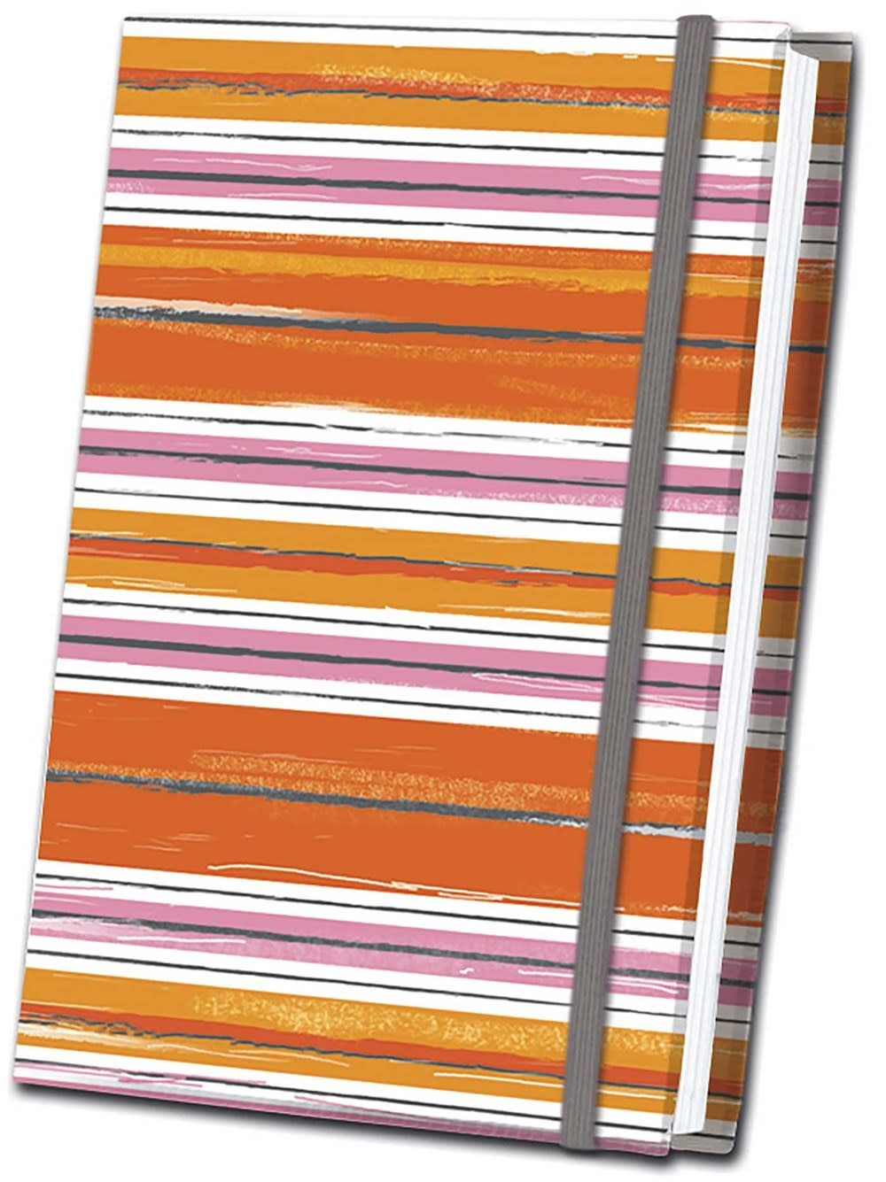 Thunder Bay Press Orange Striped Fabric Journal