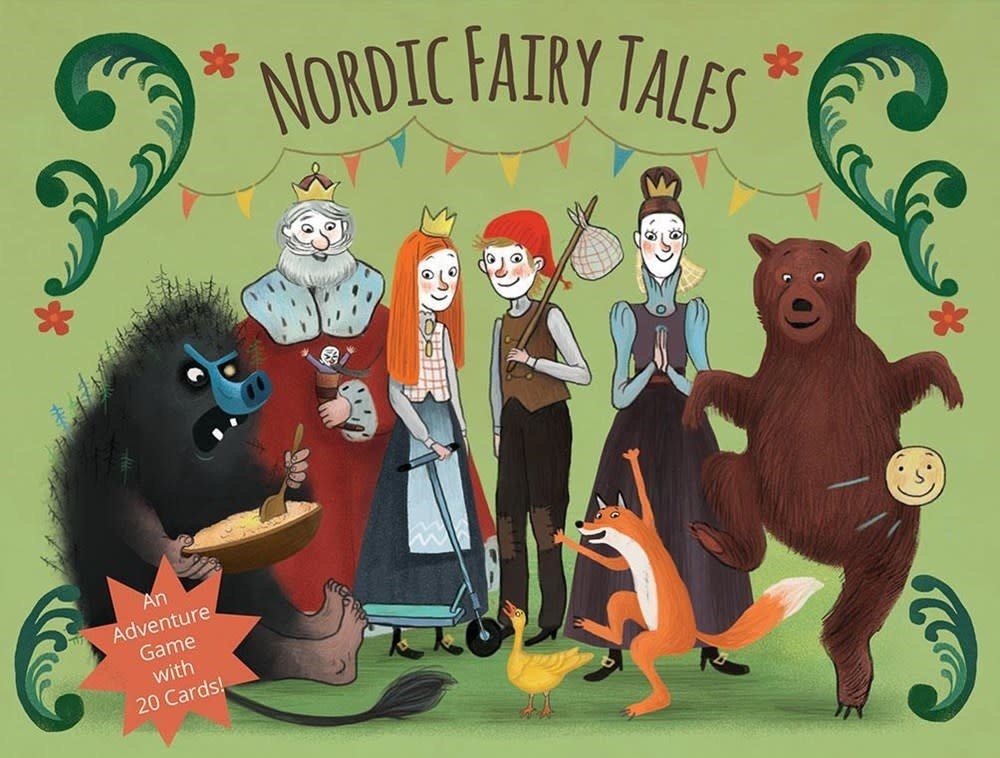 Gingko Press Inc. Nordic Fairy Tales: And Adventure Game with 20 Cards