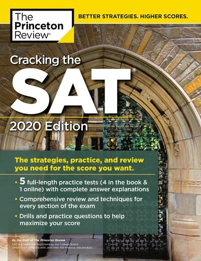 Princeton Review Cracking the SAT with 5 Practice Tests, 2020 Edition
