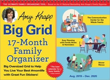 Sourcebooks 2020 Amy Knapp's Big Grid Family Organizer Wall Calendar