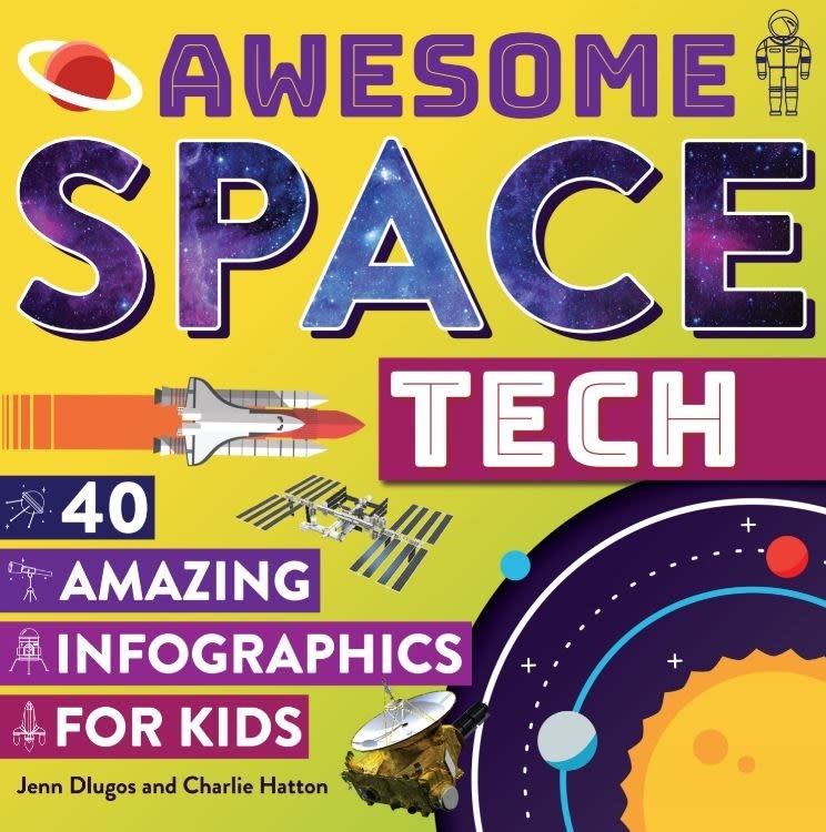Prufrock Press Awesome Space Tech: 40 Amazing Infographics for Kids