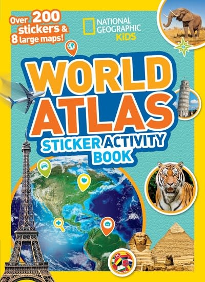 National Geographic Children's Books World Atlas Sticker Activity Book