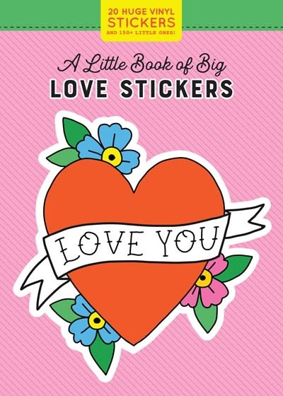 Workman Publishing Company A Little Book of Big Love Stickers