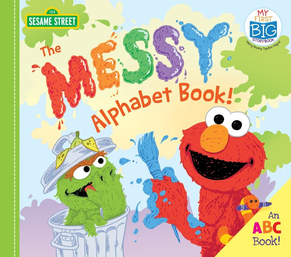 Sourcebooks Jabberwocky Sesame Street: The Messy Alphabet Book! (Board Book)